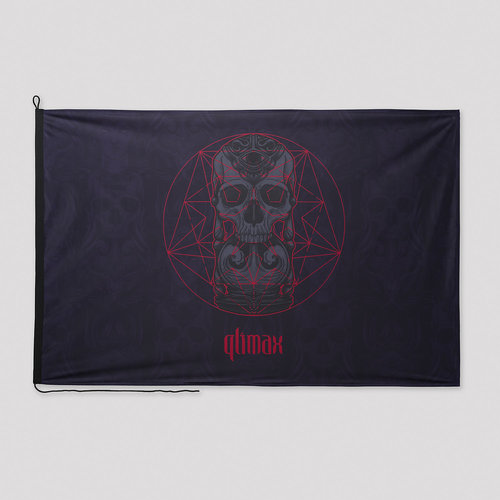Qlimax flag black/red