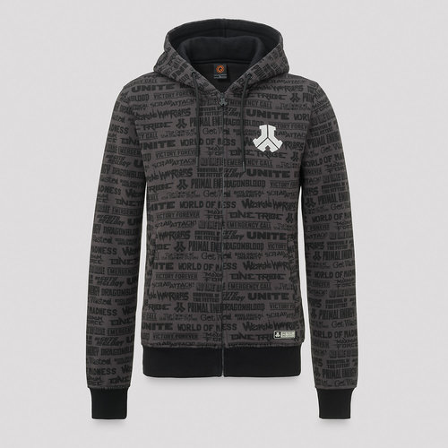 Defqon.1 hooded zip legacy/grey