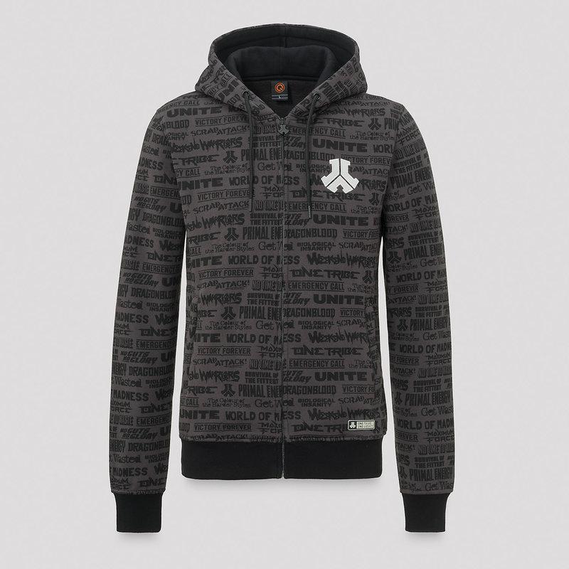 Defqon.1 hooded zip legacy/grey