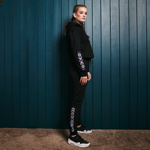 Defqon.1 jogging pants black/purple