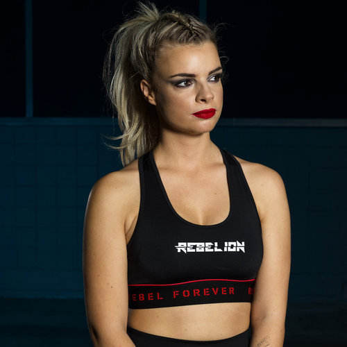Rebelion sport bra black/red