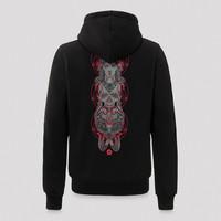 Qlimax hooded zip black/red
