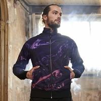 Qlimax reversible track jacket  black/purple