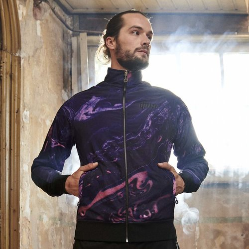 Qlimax reversible track jacket  black/purple
