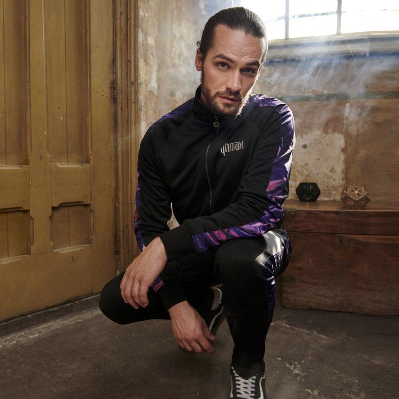 Qlimax track pants black/purple