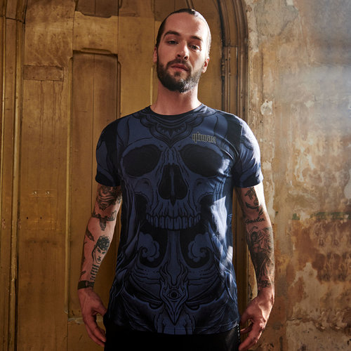 Qlimax t-shirt pattern/blue