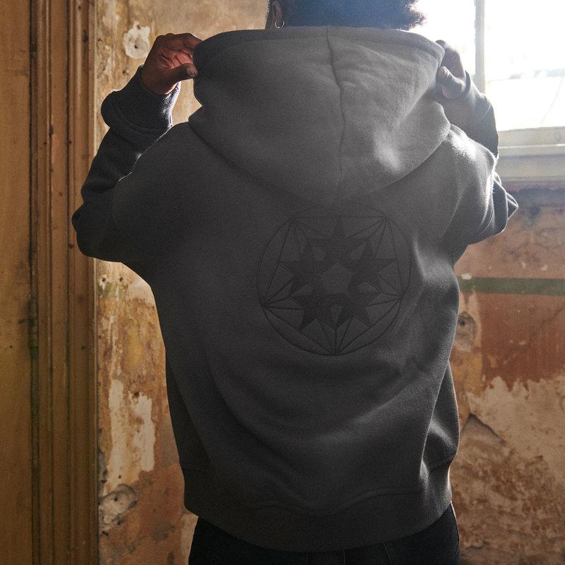 Qlimax boyfriend hoodie grey