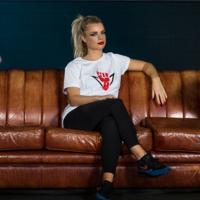 Rebelion t-shirt white/red