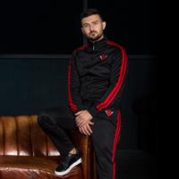 Rebelion track pants black/red