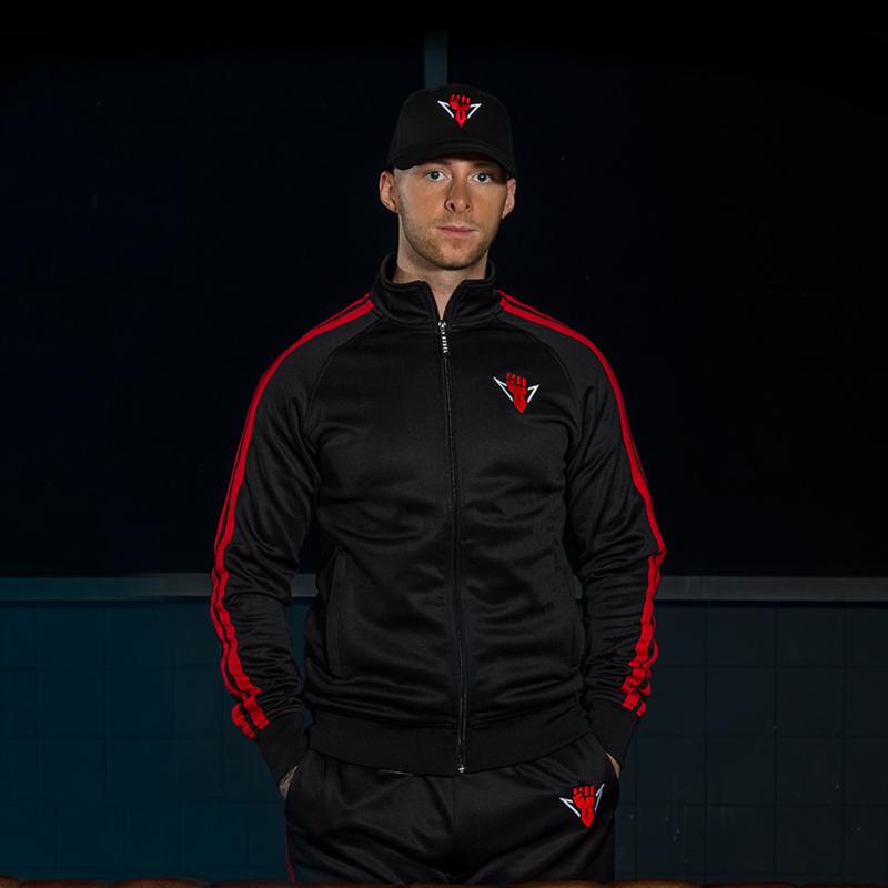 Rebelion track jacket black/red