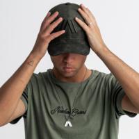 Atmozfears baseball cap green/suede