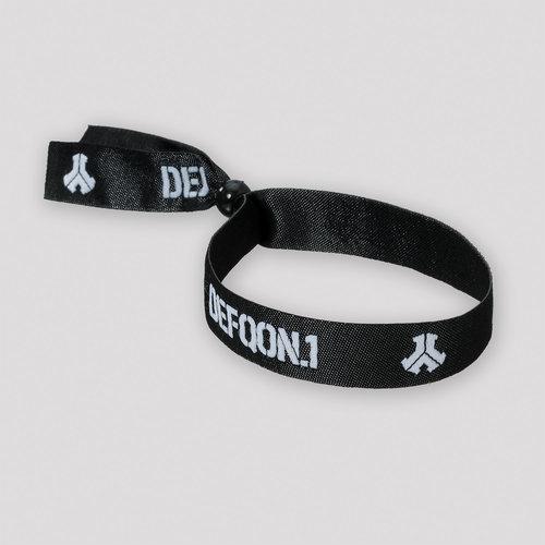 Defqon.1 Woven bracelet black/white
