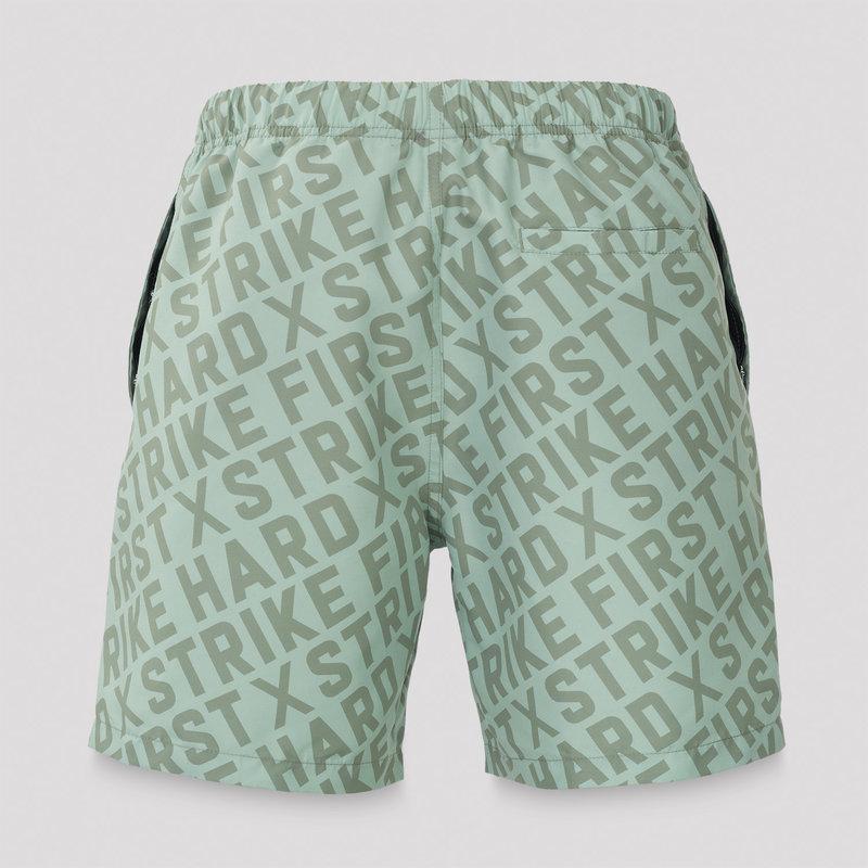 Defqon.1 swim short mint green/black