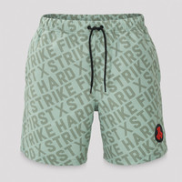 Defqon.1 swimshort mint green/black