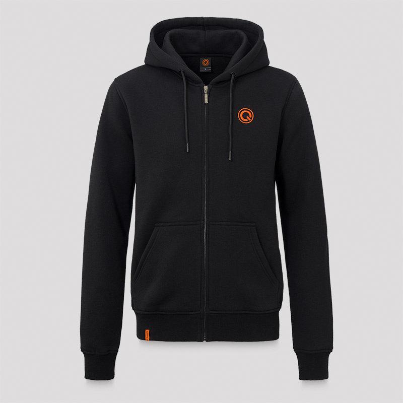 Q-dance hooded zip black/orange