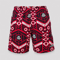 Defqon.1 swim short red/pattern