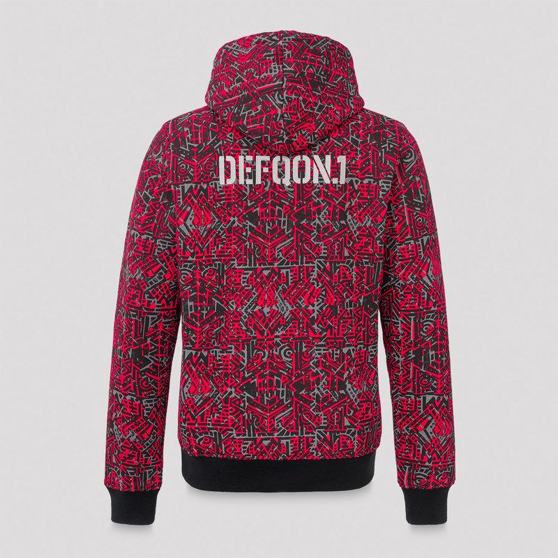 Defqon.1 hoodie red/pattern