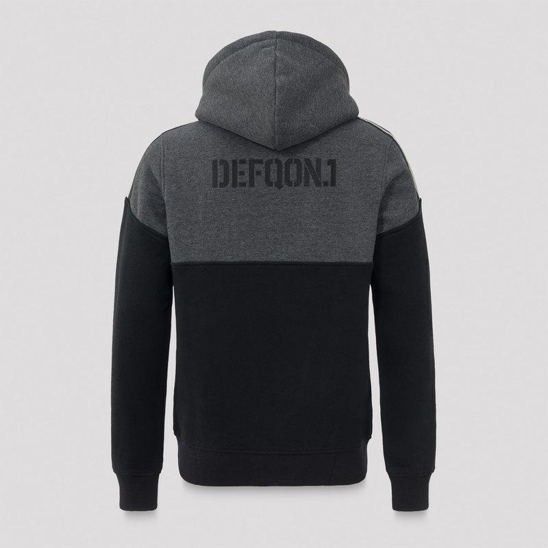 Defqon.1 hooded zip grey/black