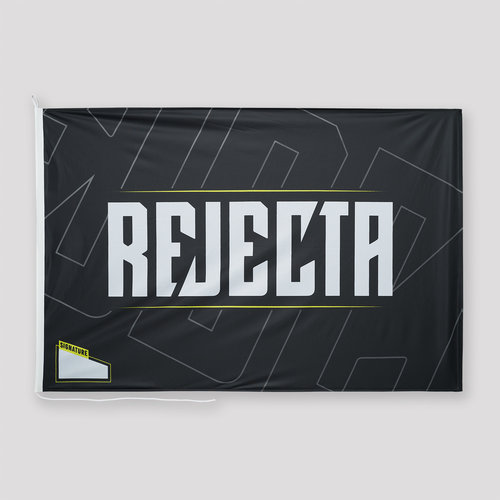 Rejecta flag black/yellow
