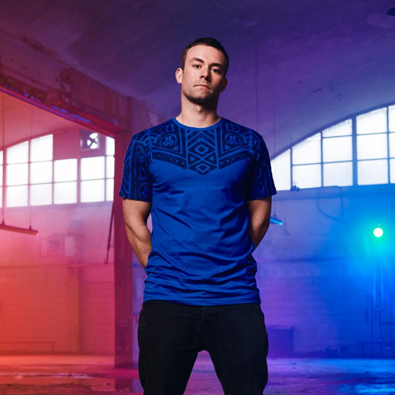 Defqon.1 t-shirt blue/pattern