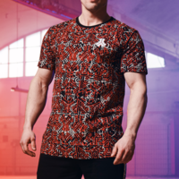 Defqon.1 t-shirt red/pattern