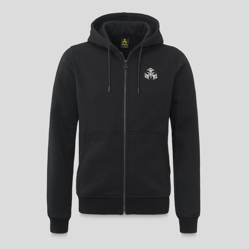 Dominator hooded zip black/white