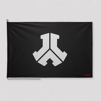 Defqon.1 flag black/white