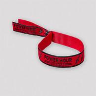 Defqon.1 Power Hour woven bracelet red