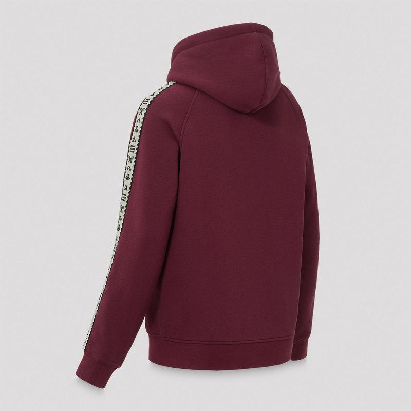 Defqon.1 hooded zip burgundy/white