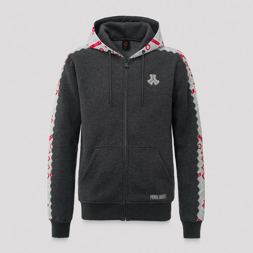 Defqon.1 hooded zip grey/tape