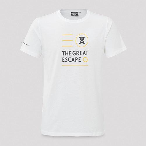 Sound Rush t-shirt great escape white/yellow