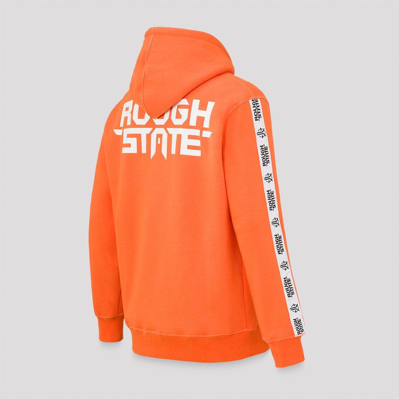 Roughstate hoodie orange/black