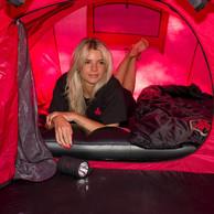 Defqon.1 sleeping bag black/red