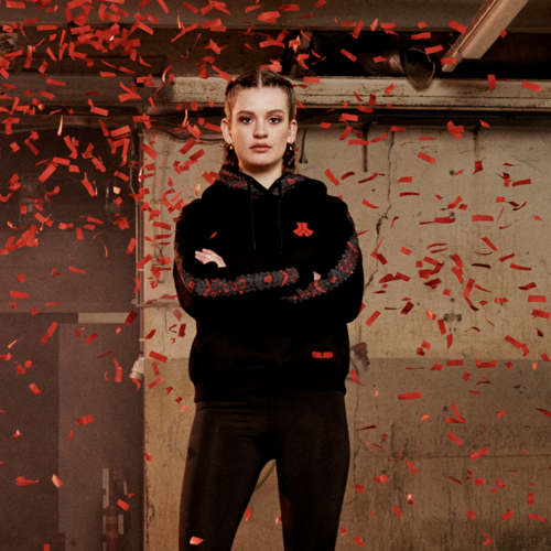 Defqon.1 boyfriend hoodie black/red