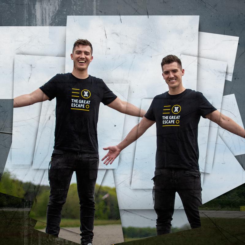 Sound Rush t-shirt great escape black/yellow