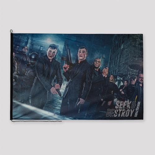 Gunz For Hire Seek & Destroy flag black/blue
