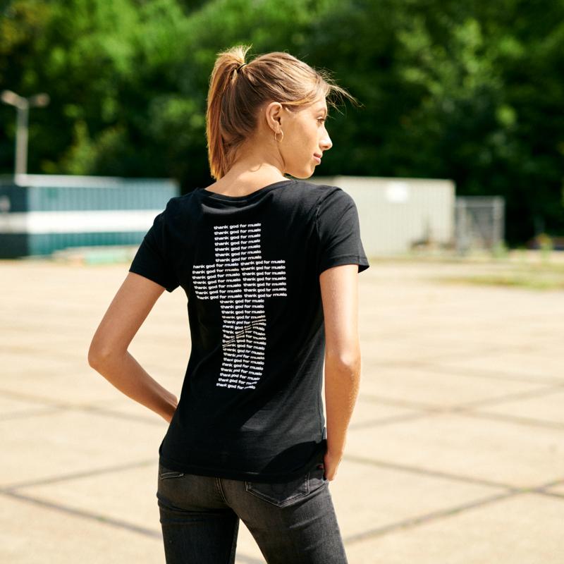 B-Front t-shirt black/white