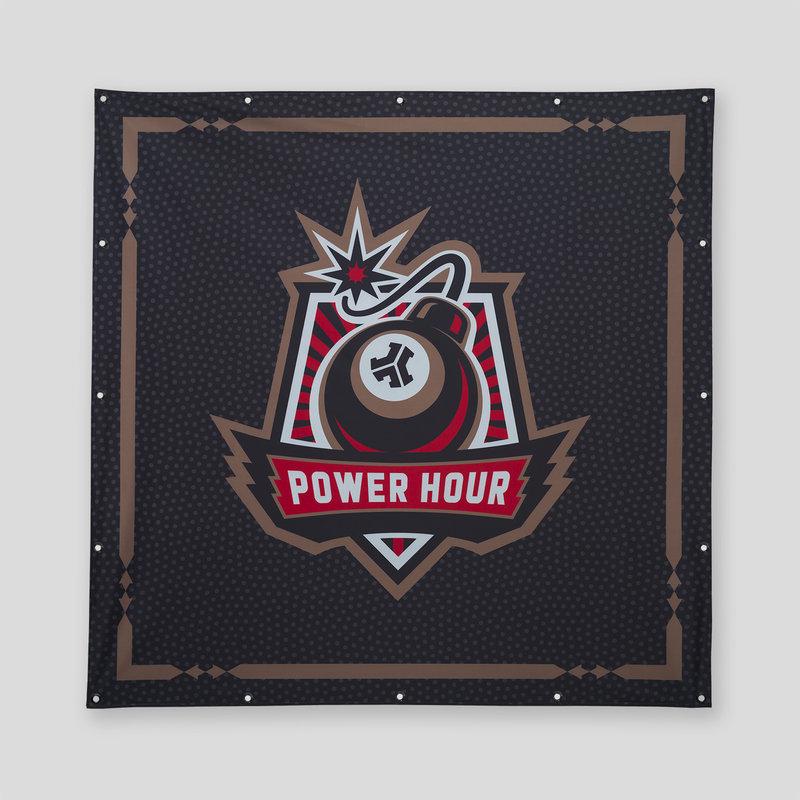 Defqon.1 Power Hour flag XXXL