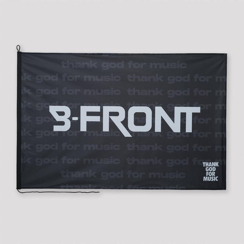 B-front flag black/white