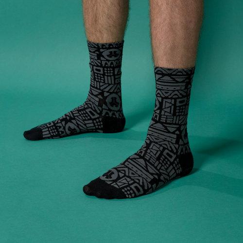 Defqon.1 socks 2-pack grey/red