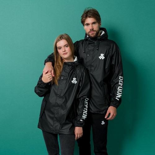 Defqon.1 raincoat black/white