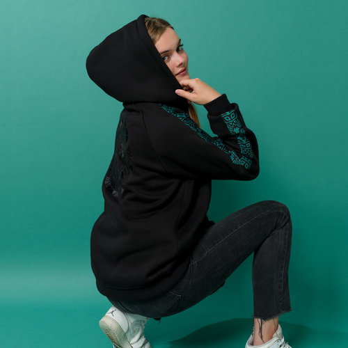 Defqon.1 hoodie black/petrol