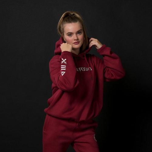 Defqon1. boyfriend hoodie burgundy/white
