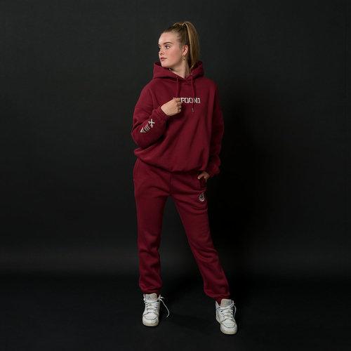 Defqon.1 jogging pants burgundy/white
