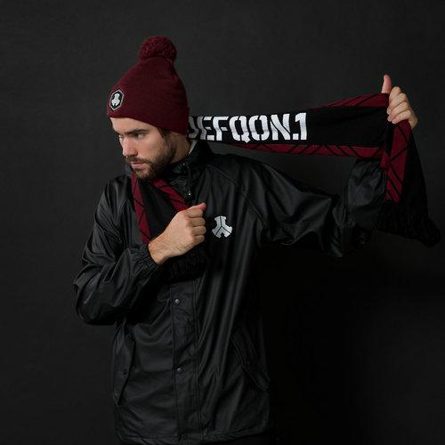 Defqon.1 scarf black/burgundy