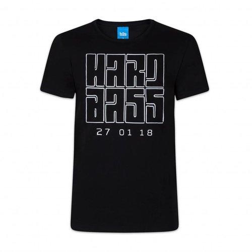 HARDBASS LINE UP T-SHIRT BLACK