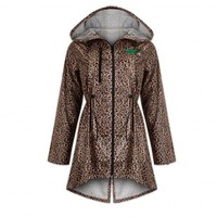 PUSSY LOUNGE RAINCOAT LEOPARD BROWN/MINT