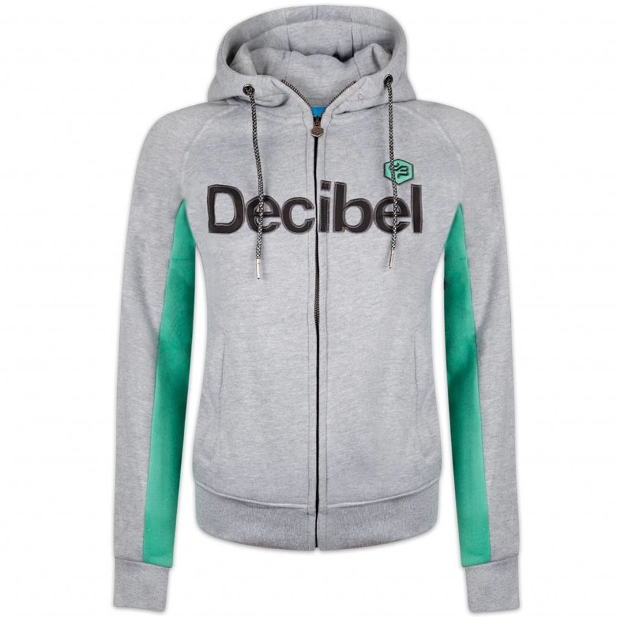 DECIBEL HOODED ZIP GREY