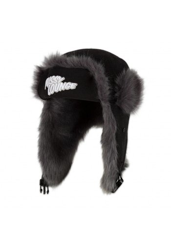 PUSSY LOUNGE FUR HAT SILVER