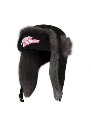 PUSSY LOUNGE FUR HAT PINK